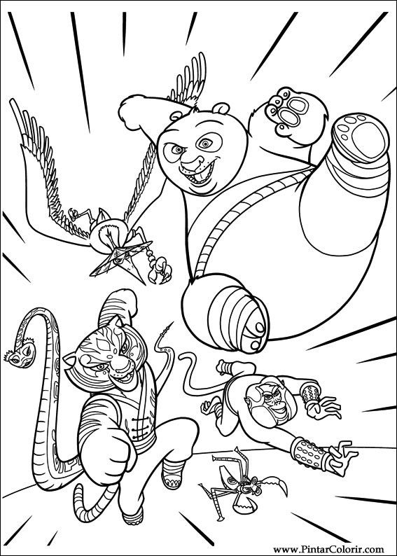 Disegni Per Dipingere Colour Kung Fu Panda 2 Print Design 010