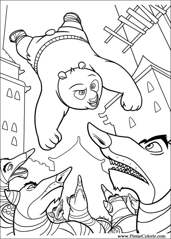 Pintar e Colorir Kung Fu Panda 2 - Desenho 012