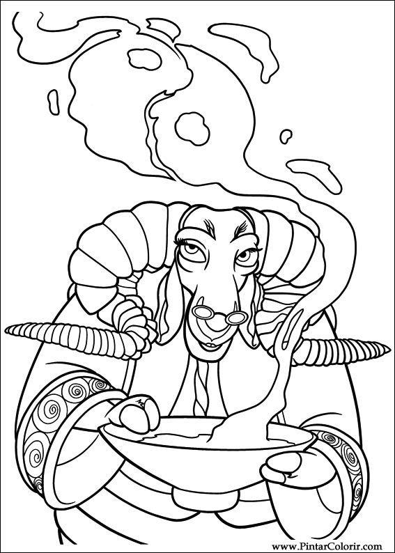 Dibujos para pintar y Color Kung Fu Panda 2 - Diseño de impresión 015