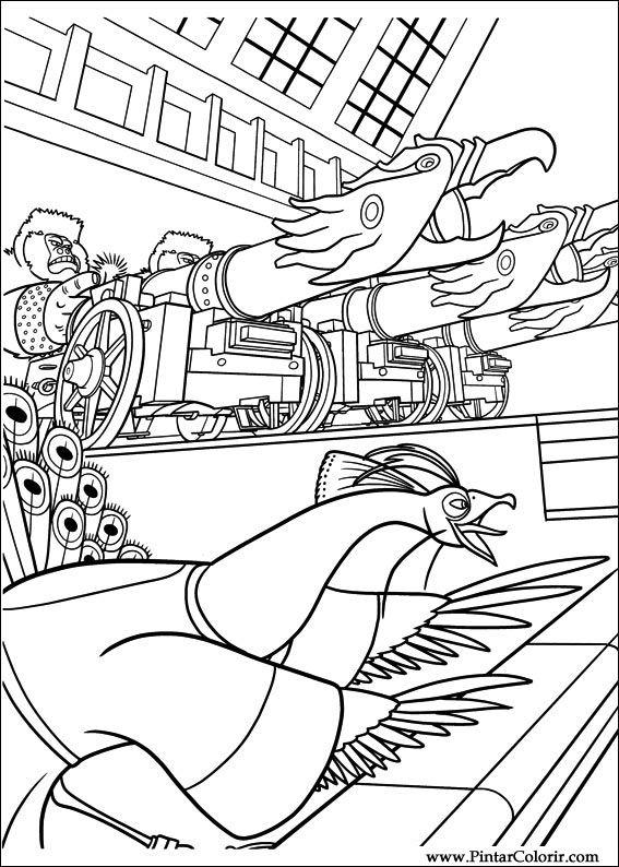 Pintar e Colorir Kung Fu Panda 2 - Desenho 023