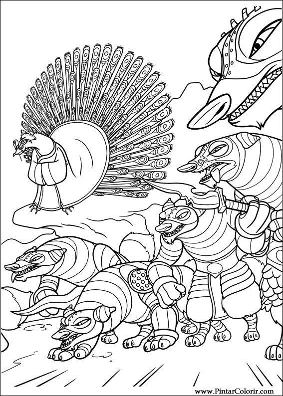çizimler Boya Ve Renk Kung Fu Panda 2 Için Baskı Tasarım 024