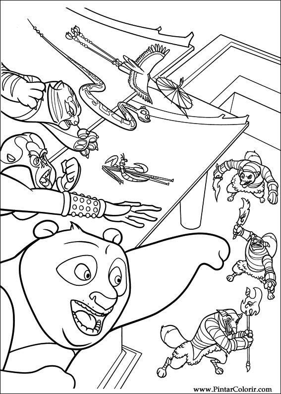Zeichnungen Zu Malen Und Farbe Kung Fu Panda 2 Print Design 025