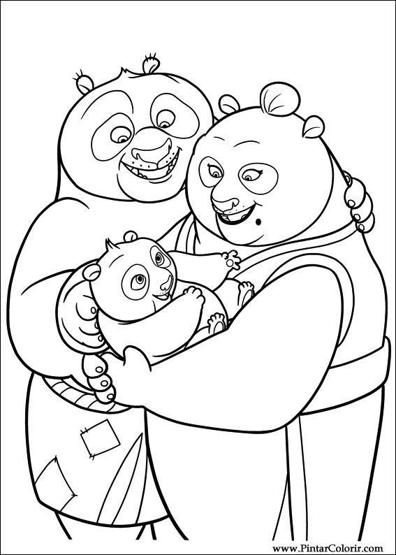 çizimler Boya Ve Renk Kung Fu Panda 2 Için Baskı Tasarım 035
