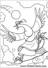 Pintar e Colorir Kung Fu Panda 2 - Desenho 004