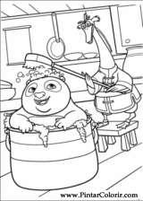 Pintar e Colorir Kung Fu Panda 2 - Desenho 009