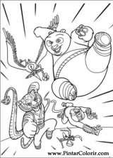 Pintar e Colorir Kung Fu Panda 2 - Desenho 010