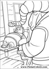 Pintar e Colorir Kung Fu Panda 2 - Desenho 016