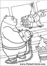 Pintar e Colorir Kung Fu Panda 2 - Desenho 019