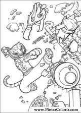 Pintar e Colorir Kung Fu Panda 2 - Desenho 021