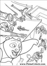 Pintar e Colorir Kung Fu Panda 2 - Desenho 025
