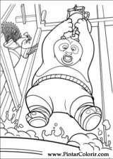 Pintar e Colorir Kung Fu Panda 2 - Desenho 027