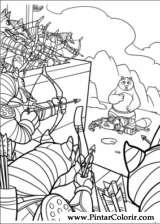 Pintar e Colorir Kung Fu Panda 2 - Desenho 032