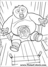 Pintar e Colorir Kung Fu Panda 2 - Desenho 033