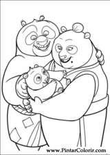 Pintar e Colorir Kung Fu Panda 2 - Desenho 035