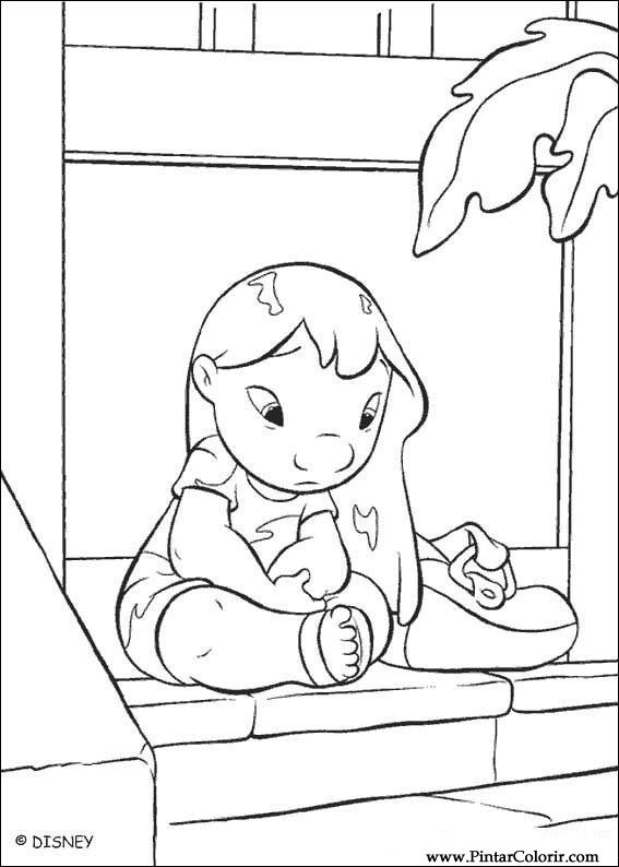 drawings to paint colour lilo and stitch print design 005