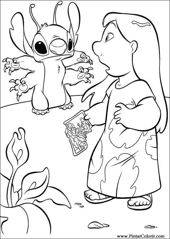 Dibujos para pintar y Color Lilo y Stitch - Diseño de impresión 025