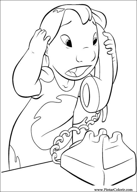 drawings to paint colour lilo and stitch print design 027