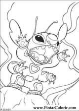 Pintar e Colorir Lilo E Stitch - Desenho 012
