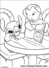 Pintar e Colorir Lilo E Stitch - Desenho 013