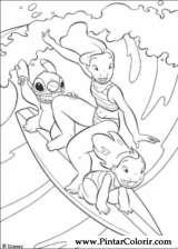 Pintar e Colorir Lilo E Stitch - Desenho 015