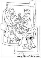 Pintar e Colorir Lilo E Stitch - Desenho 018