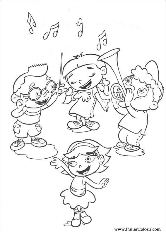 Dibujos para pintar y Color Little Einsteins - Diseño de impresión 001