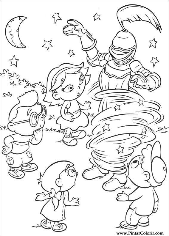 Dibujos para pintar y Color Little Einsteins - Diseño de impresión 006