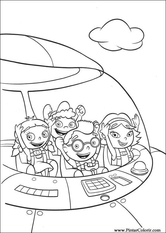 Dibujos para pintar y Color Little Einsteins - Diseño de impresión 007