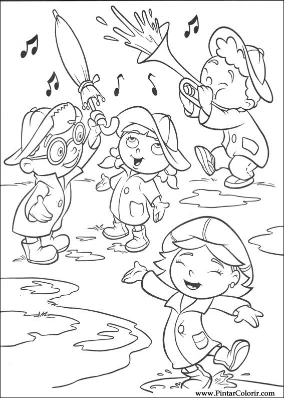 Drawings To Paint & Colour Little Einsteins - Print Design 027