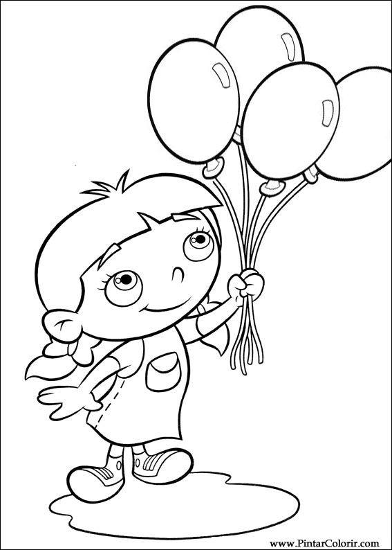 Dibujos para pintar y Color Little Einsteins - Diseño de impresión 028