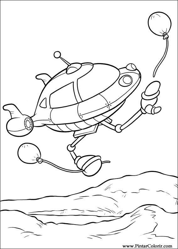 Dibujos para pintar y Color Little Einsteins - Diseño de impresión 034