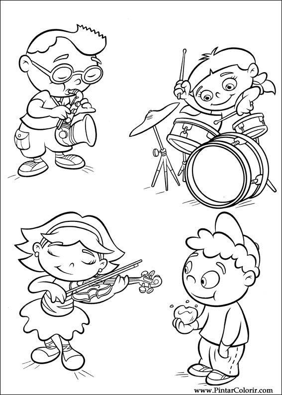 Dibujos para pintar y Color Little Einsteins - Diseño de impresión 040