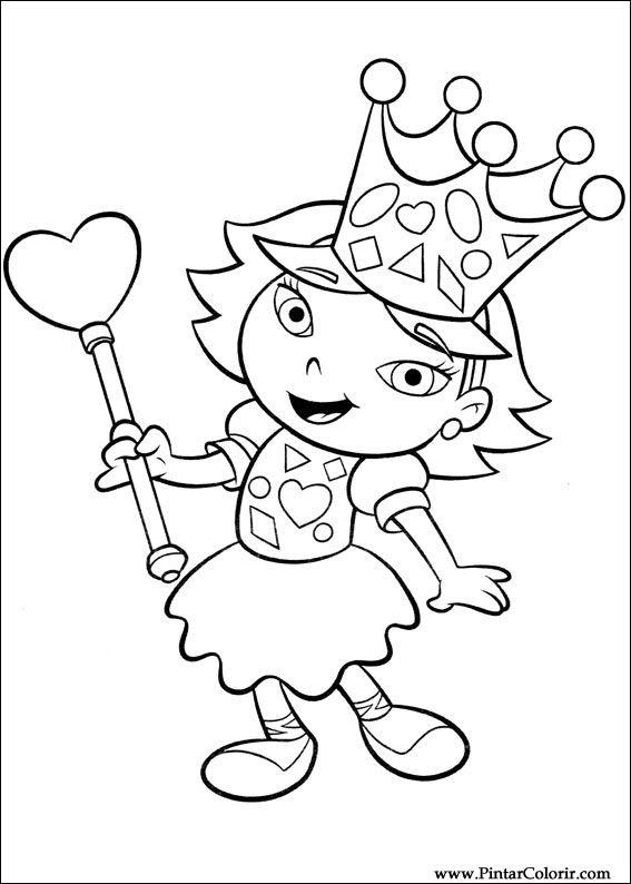 Dibujos para pintar y Color Little Einsteins - Diseño de impresión 051