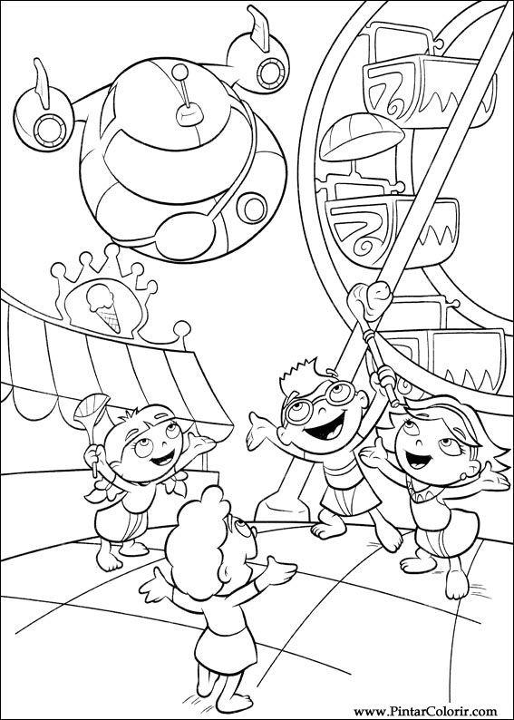 Dibujos para pintar y Color Little Einsteins - Diseño de impresión 053