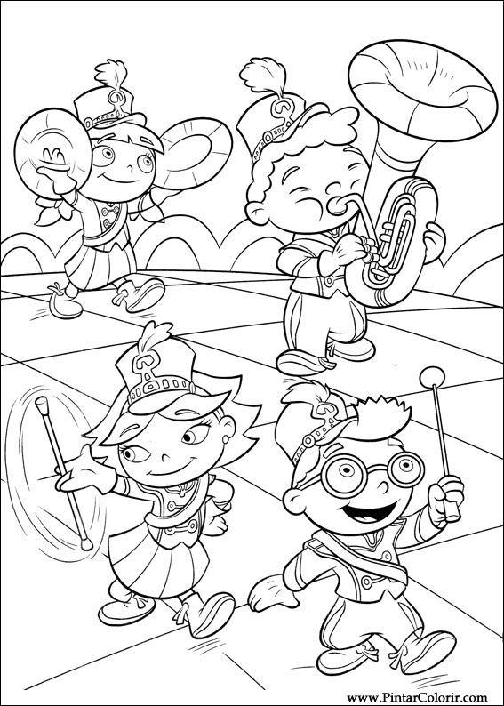 Dibujos para pintar y Color Little Einsteins - Diseño de impresión 054