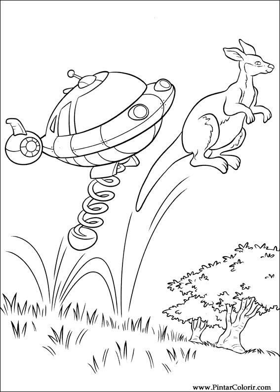 Dibujos para pintar y Color Little Einsteins - Diseño de impresión 055