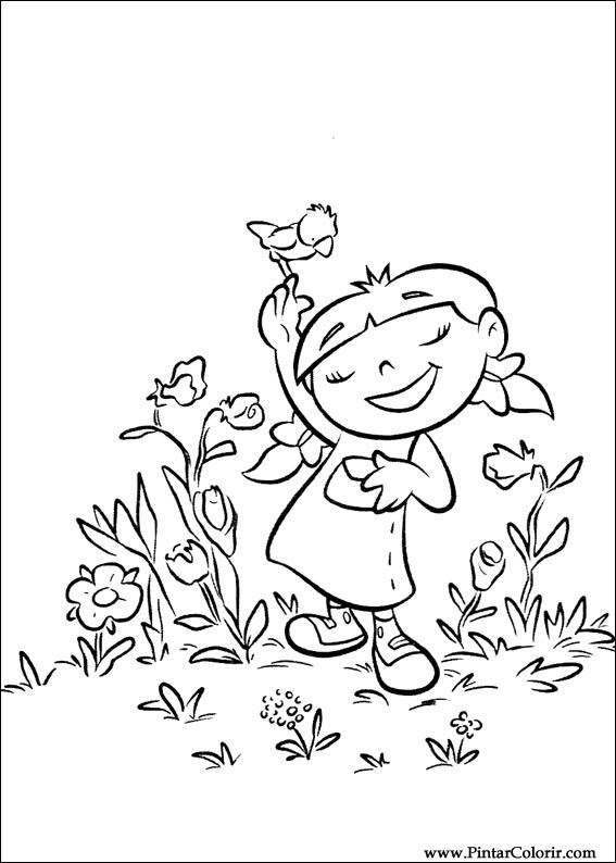Drawings To Paint & Colour Little Einsteins - Print Design 061