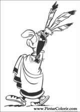Pintar e Colorir Lucky Luke - Desenho 006
