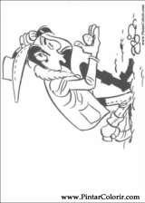 Pintar e Colorir Lucky Luke - Desenho 022