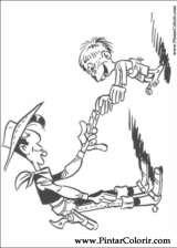 Pintar e Colorir Lucky Luke - Desenho 024