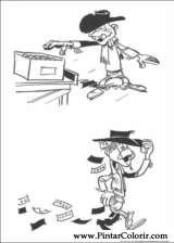 Pintar e Colorir Lucky Luke - Desenho 046