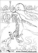 Pintar e Colorir Madagascar 2 - Desenho 026