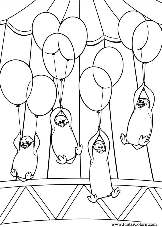 Desenhos Para Pintar E Colorir Madagascar 3 Imprimir Desenho 021