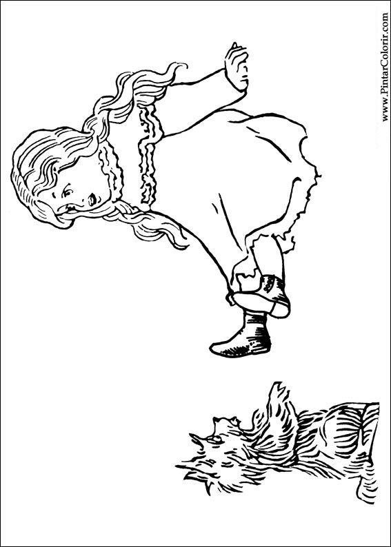 Desenhos Para Pintar E Colorir Magico De Oz Imprimir Desenho 002