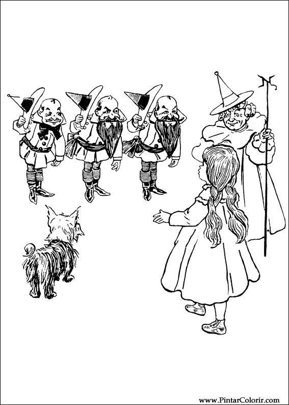 Desenhos Para Pintar E Colorir Magico De Oz Imprimir Desenho 003