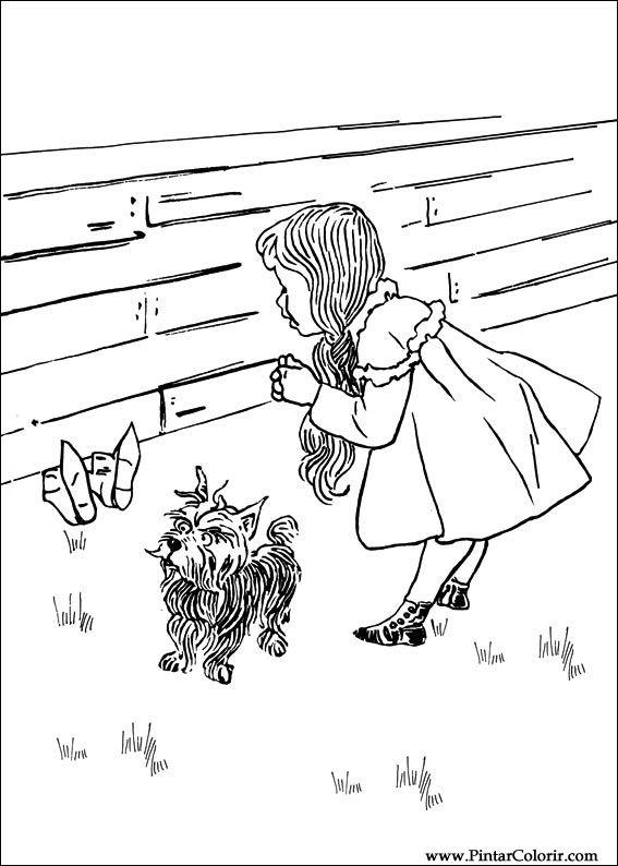 Dibujos para pintar y Color Mago de Oz - Imprimir Diseño 005