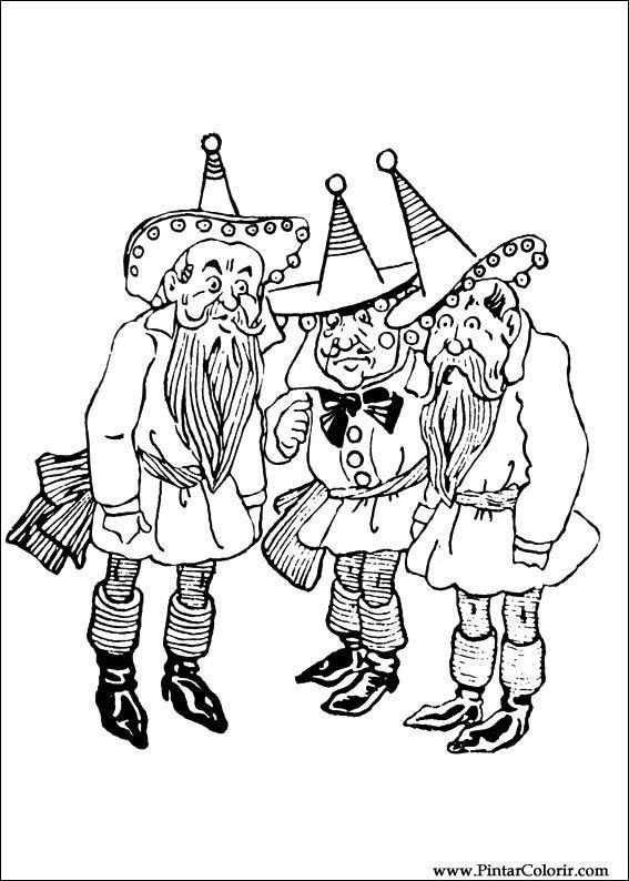 Desenhos Para Pintar E Colorir Magico De Oz Imprimir Desenho 006
