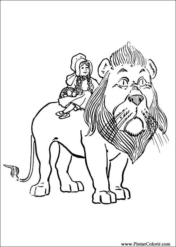 Desene Pentru Paint și Culoare Vrăjitorul Din Oz Print