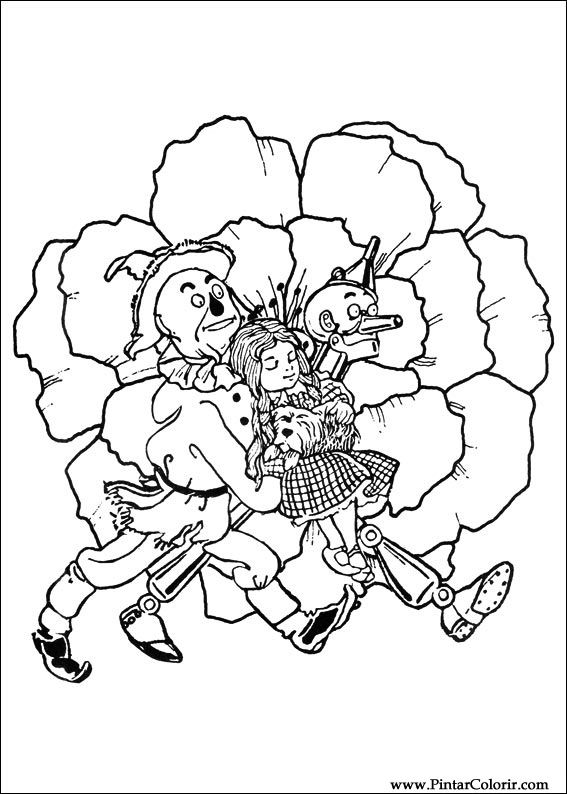 Dibujos para pintar y Color Mago de Oz - Imprimir Diseño 021