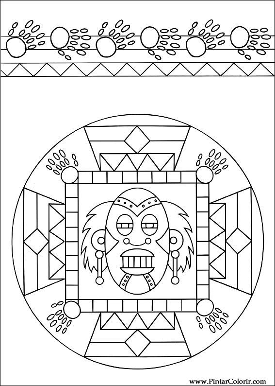 Pintar e Colorir Mandalas - Desenho 007